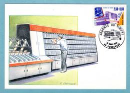 Carte Maximum 1991- Journée Du Timbre 1991 - YT 2689 Les Métiers De La Poste - Le Tri Postal - 59 Dunkerque - 1990-99