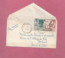 Lettre De 1950 Pour La France. YT N° PA 64 - 75ème Anniversaire De L' U.P.U. - Storia Postale