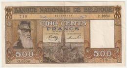 Belgique - Billet De  500 Francs - 30-3-1945 -  N° 0.0956 - 719 (Très Bon état) - 500 Francs