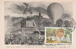 Carte Maximum - FRANCE - N° Yvert: PA 84 (Ballons Montés) Oblitération Sp. Illustrée 1er Jour 5/11/2020 - Ed. L. Boisson - 2010-...