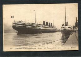 """CPA - LE HAVRE - Le Transatlantique """"France"""" Et Le Bateau De Southampton - Port"""