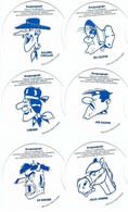 """BD - Lot De 6 Pochoirs Complets """"Grosjeangraph"""" [vache Grosjean] : Joe Dalton, Ma Dalton, Jolly Jumper... [Morris] - Andere Stripverhalen"""