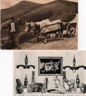 Carte Postale Ancienne - Non Circulé - Attelage De Boeufs + Carte D' Un Musée - Spannen