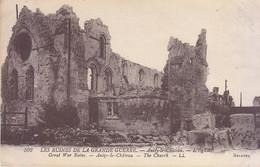 ANIZY LE CHATEAU - L'Eglise  -  Ruines De La Grande Guerre  -  L.L.  1925 - Altri Comuni