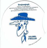 """BD - Pochoir Complet """"Grosjeangraph"""" [vache Grosjean] : Colonel O'Nollan [Morris, Lucky Luke] - Andere Stripverhalen"""