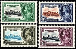 Turks & Caicos Islands 1935 SG 187-190 Royal Silver Jubilee Set Of 4  Mult Script CA Perf 14  Mint - Andere