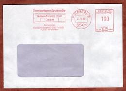 Brief, Francotyp-Postalia B24-1589, Tennis-Kraft, 100 Pfg, Fuldatal 1989 (2781) - Marcophilie - EMA (Empreintes Machines)