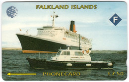 FALKLAND ISLANDS A-156 Magnetic Cable&Wireless - Traffic, Ship - 3CWFA - Used - Falklandeilanden