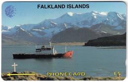 FALKLAND ISLANDS A-157 Magnetic Cable&Wireless - Traffic, Ship - 5CWFA - Used - Falklandeilanden