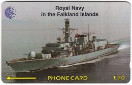 FALKLAND ISLANDS A-158 Magnetic Cable&Wireless - Traffic, Ship - 59CFKC - Used - Falklandeilanden