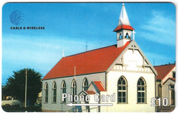 FALKLAND ISLANDS A-179 Magnetic Cable&Wireless - Religion, Church - 289CFKA - Used - Falklandeilanden