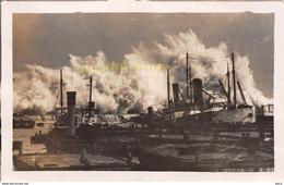 """Carte-Photo RAYNAL ▬ Port D'Alger """"Souvenir De La Terrible Tempête Du 12 Et 13 Décembre 1931""""  (¬‿¬) ♥ - Algiers"""