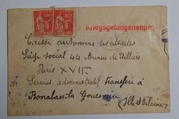 Enveloppe Prisonnier De Guerre Oberkommando Der Whermacht Geöffnet 1940 - 1939-45
