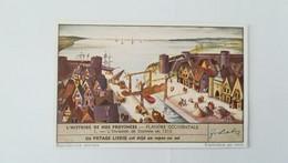 CHROMO LIEBIG - L'HISTOIRE DE NOS PROVINCES - FLANDRE OCCIDENTALE - 1. L'INVASION DE DAMME EN 1213 - Liebig