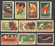 RUSSIA USSR 1960 Matchbox Labels 10v - Matchbox Labels