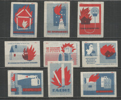 RUSSIA USSR 1961 Matchbox Labels 9v - Matchbox Labels