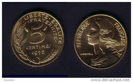 5 CENTIMES 1976 FLEUR DE COIN !!! - C. 5 Centesimi