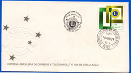 Enveloppe Brésil Cachet Lions Club Lions Clubes Di Brasil - Otros