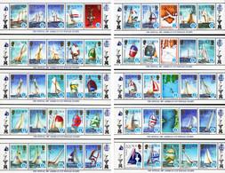 Solomon Islands - 1987 - America's Sailing Cup - Set Of 10 Souvenir Sheets (complete) - Solomoneilanden (1978-...)