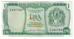 Malta 1 Lira 1967/1973 AUNC - Malta