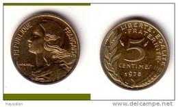 5 CENTIMES 1978 SPLENDIDE - C. 5 Centesimi