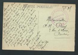 """Au Dos D'1 Cpa """" Marseille Le Vieux Port """" En F.M. CACHET  """"AMERICAN PARK MARSEILLE   LIRE SUITE   Lx 3604 - Guerra Del 1914-18"""
