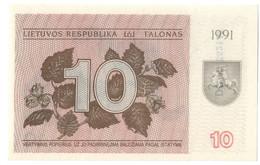 LITHUANIA10TALONAS1991P35UNCWith Text -35B.CV. - Lituanie