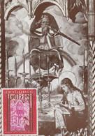 Carte Maximum -  Canillo (Vallées D'Andorre) St Jean De Casellzs - Rétable De L'Apocalypse, Fin Du XVe S. - Cartas