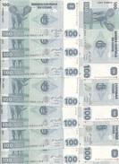 CONGO 100 FRANCS 2007 UNC P 98 ( 10 Billets ) - Sin Clasificación