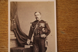 Cdv Second Empire Général  Nombreux Ordres Tenue Brodée - Guerra, Militari