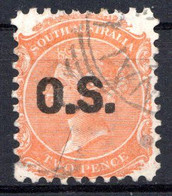 AUSTRALIE DU SUD - (Colonie Britannique) - 1875-82 - Service - N° 10 Et 10a - 2 P. Rouge-orange - (Effigie De Victoria) - Gebruikt