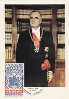 Carte Maximum -  1er Jour - Georges Pompidou Président De La République Française Co-Prince D'Andorre - Cartas