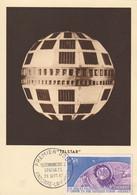 Carte Maximum -  1er Jour - 1ère Liaison T.V. Par Satellite Europe-Amérique - Cartas