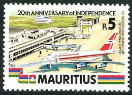 Maurice Mauritius 1988 Independance 20 Years Ans Boeing 747-SP Airport Seewosagur Rangoolam Aéroport - Airplanes