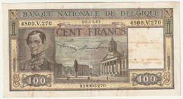 Belgique - Billet De 100 Francs 3-12-1947   N° 4800.V.270 - Unclassified