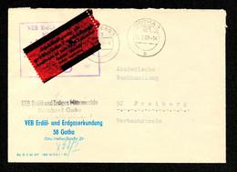 DDR Brief ZKD Von GOTHA Nach Freiberg - 21.3.68 Von VEB Erdöl- Und Erdgas Mittenwalde - Servizio