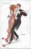 DANSE - Illustrateur : Xavier Sager, 1924. - Soirée Dansante. - Double Boston. - Sager, Xavier