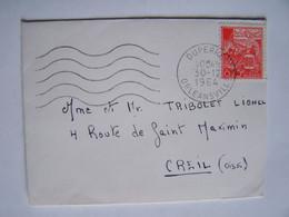 ALGERIE 30-12-1964 ORLEANSVILLE Vers OISE Timbre Sur Enveloppe - Algeria (1962-...)