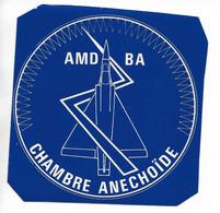 AUTOCOLLANT STICKER ADHÉSIF - AMD BA - AVIONS MARCEL DASSAULT - BREGUET AVIATION - CHAMBRE ANECHOÏDE - Stickers