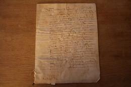 Manuscrit Sur Velin 2 Pages 1680 Vieux François - Manoscritti