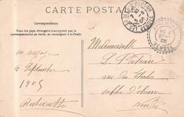 APREMONT  (Vendée  ) - Cachet Perlé   -1905 Sur CP - 1877-1920: Periodo Semi Moderno