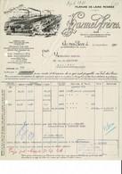 VP COURRIER FRANCE 1931 (V2030) HARMEL FRèRES (1 Vue) Filature De Laine Peignée VAL DES BOIS Par WARMERIVILLE (Marnes) - Textile & Vestimentaire