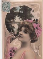 CPA Photomontage   FEMME Artiste  TAXIL   Par REUTLINGER   Style Art Nouveau - Femmes