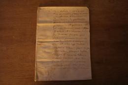 Manuscrit Sur Velin  Cahier 1660 8 Pages - Manoscritti