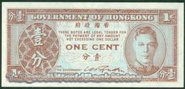TWN - HONG KONG 321 - 1 Cent 1945 UNC King George VI - Uniface - Hong Kong
