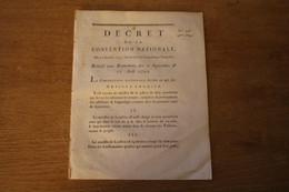 1793 Révolution  Affaires Des événements  Des 2 Septembre Et 10 Aout 1792 - Documenti Storici
