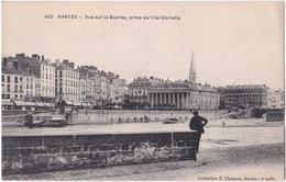 44. NANTES. Vue Sur La Bourse, Prise De L'Ile Gloriette. 402 - Nantes