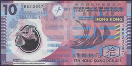 TWN - HONG KONG 401c - 10 Dollars 1.1.2012 Polymer - Prefix TB UNC - Hong Kong