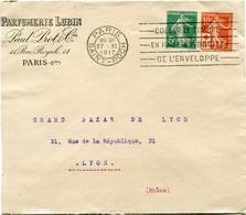 FRANCE THEME CROIX-ROUGE LETTRE DEPART PARIS 27 II 1917 SAINT-ROCH POUR LA FRANCE - Lettres & Documents