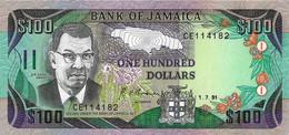 JAMAÏQUE 1991 100 Dollar - P.75a  Neuf -UNC - Giamaica